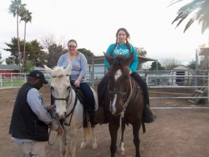 Andria & Me on horses