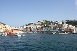 The Island of Ponza as we left.